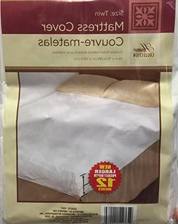 1 Twin Size Waterproof Mattress Cover - Hypoallergenic Fitte