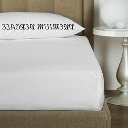 1 new white king 78x80x12 percale deep pocket fitted hotel b