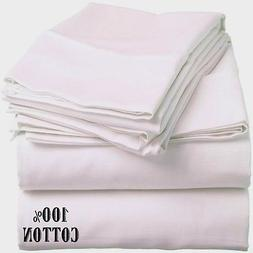 1 new white queen size hotel fitted sheet 60x80x12 200 threa