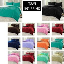 10 COLORS GOOSE DOWN ALTERNATIVE REVERSIBLE 3 PIECE COMFORTE