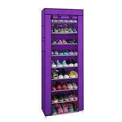 Valuebox 10 Tiers Shoe Rack with Dustproof Cover Closet ,30-