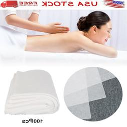 100 Disposable Fitted Spa Massage Table Sheets Soft Salon Sp