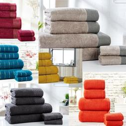 100% Combed Cotton Super Soft Absorbent 6 Piece Bathroom Tow
