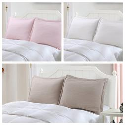 100% Cotton Decorative King Pillow Shams Set, King size of 2