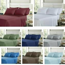 100% Egyptian Comfort 1800 Count 4 6 Piece Bed Sheet Set Dee