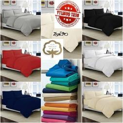 100% Egyptian Cotton Bedding Sets Duvet Cover Sets, Fitted,