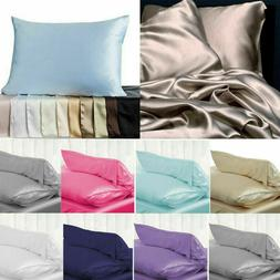 100% Pure Mulberry Silk Pillowcase Luxurious 6 colors Home B