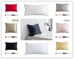 100% Pure Mulberry Silk Pillowcase  Super Soft Real Natural