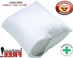 12 queen white hotel hypoallergenic pillowcase zippered bed