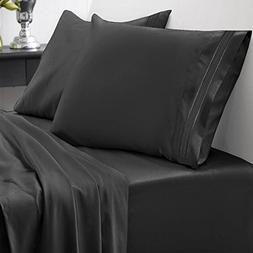 1500 Series Home Collection 4 Piece Bed Sheet Set - King, Bl