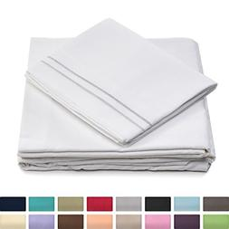 Queen Size Bed Sheets - White Luxury Sheet Set - Deep Pocket