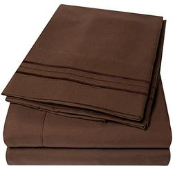 1500 Supreme Collection Extra Soft King Sheets Set, Brown -