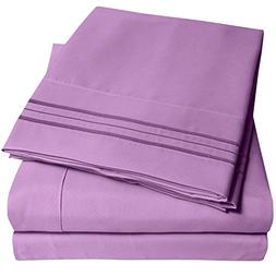 1500 Supreme Collection Extra Soft Queen Sheets Set, Plum -