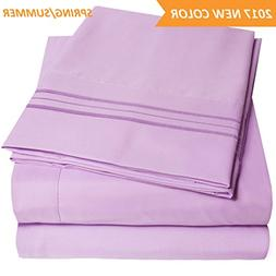 1500 Supreme Collection Extra Soft Queen Sheets Set, Lilac -