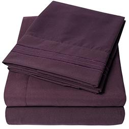 1500 Supreme Collection Extra Soft Full Sheets Set, Purple -