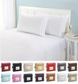 1500 Thread Count 4pc Egyptian Quality Bed Sheet Set Deep Po