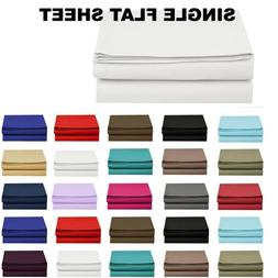 1500 Thread Count Single Flat Sheet Top Sheet - Available in