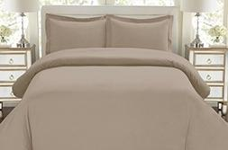 1500 Thread Count Egyptian Quality Duvet Cover set, King Tau