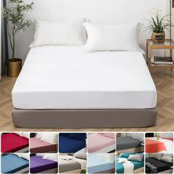 MOHAP 16'' Deep Pocket Bed Fitted Sheet For Mattress Twin Fu
