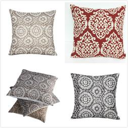 "16"" Vintage Linen Cotton Throw Pillow Case Cushion Cover Hom"
