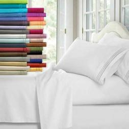 Egyptian Comfort 1800 Count 4 Piece Deep Pocket Bed Sheet Se