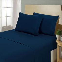 1800 Count 4 Piece Deep Pocket Cozy Lux Bed Sheet Set by Cla