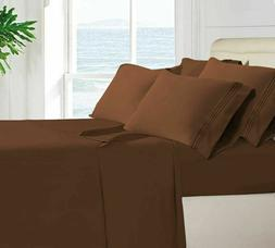 6 Piece Bed Sheet Set 1800 Count Egyptian Hotel Quality Deep