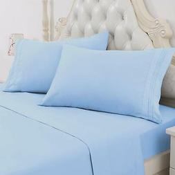 EGYPTIAN COMFORT 1800 Count Collection Soft 4 Piece Bed Shee