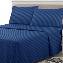 4 Piece Bed Sheet Set 1800 Count Bedding Egyptian Comfort De