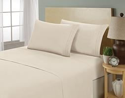 1800 Series Egyptian Collection 3 Line Microfiber 4 Piece Be