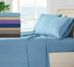 Egyptian Comfort 1800 Count Bedding 4 Piece Bed Sheet Set De