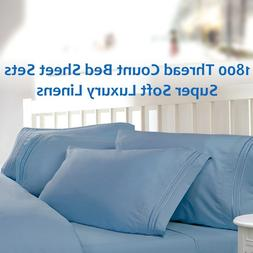 1800 Thread Count Bed Sheet Sets: Buttery Soft, Cool & Wrink
