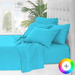 Bare Home 5 Piece 1800 Collection Deep Pocket Bed Sheet Set