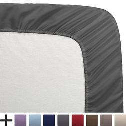"2 Twin XL Fitted Bed Sheets 2-Pack - Twin Extra Long, 15"" De"