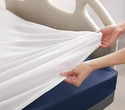 6 new white medical bed sheets 36x80x7 white hospital fitted