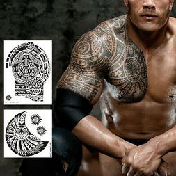 2 Sheets Extra Large Temporary Tattoo Si