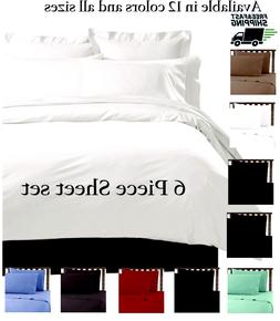 6 PIECE LUXURY 2100 COUNT HOTEL SERIES DEEP POCKET WRINKLE F