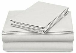 Pinzon 300-Thread-Count Percale Sheet Set -  King, White