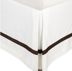 MARRIKAS 300TC Cotton TWIN EXTRA LONG Bed Skirt SOLID WHITE