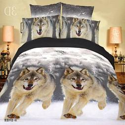 3D Duvet Cover Print Pillow Cases Bed Sheets Animal Design B
