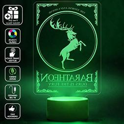 CMLART 3d Lamp House Baratheon Game of Thrones Ours is the F