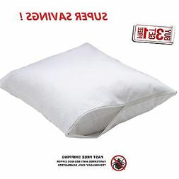 2 new king size zippered pillowcases pillow cover 20'' x 40'