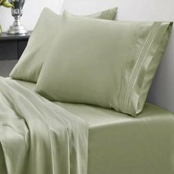 4 PIECE 1800 COUNT DEEP POCKET BAMBOO COMFORT KING SIZE BED