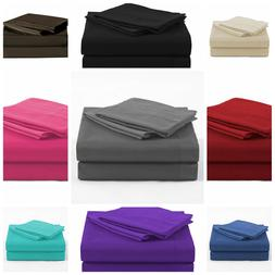 4 Piece Bed Sheet Set 1800 thread count 16''Deep Pocket For