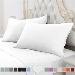 Homeideas 4 Piece Bed Sheet Set  100% Brushed Microfiber 180