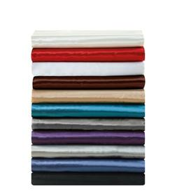 Chezmoi Collection 4-piece Silky Satin Solid Color Sheet Set