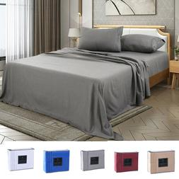 4 piece fitted bed sheet set egyptian