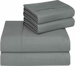 Utopia Bedding 4-Piece Queen Bed Sheets Set , Smooth, Brushe