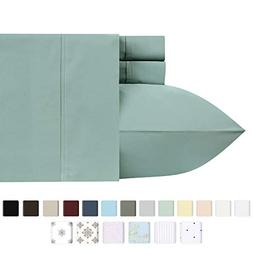 400-Thread-Count 100% Pure Cotton Sheets - 4-Piece Green Sag