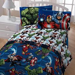 41aa447a0ed0 4pc Marvel Avengers Twin Bedding Set Heroic Age Comforter an